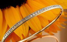 14K Yellow Gold Diamond Bangle Bracelet - 1.13 twt - $3,299