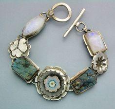 Agate Stalactite  and Rough Labordorite  Bracelet van Temi op Etsy, $260.00