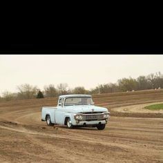 My 1958 F 100 Ford Truck on the track at Torque Fest