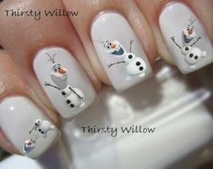 OLAF FINGER NAILS ;D