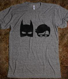 The DARK Superhero and The Bird Superhero....love this site for nerdy tees!!!