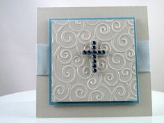 Boys First Communion or Christening Handmade Card by rustyology