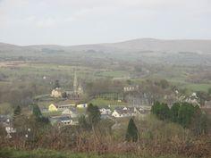 View of Gortin from Gortin Glen, Sperrin Mountains, Northern Ireland March 2016