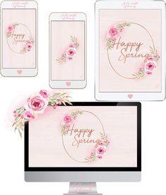 Desktop Wallpapers, Wallpaper Backgrounds, Iphone Wallpaper, Spring Wallpaper, Happy Spring, Wall Murals, Iphone 6, Stencils, Printables