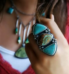 Where Sea Meets Shore - Turquoise Sterling Silver Ring
