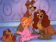 Belle et le clochard (Disney) Disney Films, Disney Characters, Fictional Characters, Disney Dogs, Lady And The Tramp, Disney Pictures, Disney Animation, Dreamworks, Good Movies
