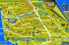 Map of Russian River Valley Wineries