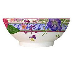 "Gien Millefleurs Cereal Bowls, Set of 6. A warm summer evening, family and friend, dining alfresco--who could ask for more? Be sure to have plenty of these bowls on hand. They are 7"" in diameter.Made of high quality faience earthenware. Dishwasher safe, microwave safe at low settings. Made in France."