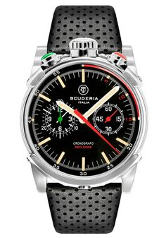 CT Scuderia Red Zone Bullhead Chrono Silver | Free Shipping from Watchismo
