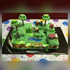 Happy 9th Birthday Caden!! #alloccasions #daniellessweetcreations #creeper #minecraft #tnt #instacakes #minecraftparty