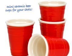 Red Cup Shot Glasses | CheaperThanAShrink.net #alcohol #beer #shots #party