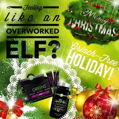 Holiday stress😮😧Why when you could be taking Greens and Confianza, like I do😀❤ I'm feeling amazing! Let's talk! It Works Wraps, My It Works, It Works Loyal Customer, It Works Greens, Christmas Party Drinks, It Works Distributor, It Works Global, Ultimate Body Applicator, It Works Products