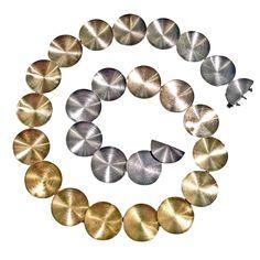 Antonio Bernardo Two-Color Gold Ombre Alchemy Necklace Jewelry Clasps, Jewelry Art, Antonio Bernardo, White Gold Jewelry, Antique Necklace, E Design, Statement Jewelry, 18k Gold, Yellow