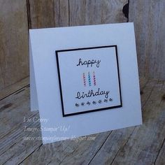 Fun little card using Sprinkles of Life. More details on my blog at www.stampingleeyours.blogspot.com
