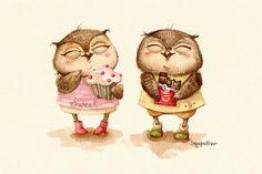 Милые Совушки... Ингa Пальцер. Обсуждение на LiveInternet - Российский Сервис Онлайн-Дневников