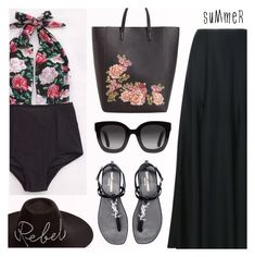 """""""I wish it was summer"""" by dora04 ❤ liked on Polyvore featuring Khaite, Yves Saint Laurent, Eugenia Kim, MANGO, Gucci, Summer, floral, beachstyle, wishitwassummer and Cupshe"""