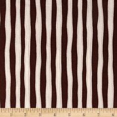 Sock Monkey Fabric: Monkey Around Vertical Stripe Brown
