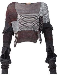 Vivienne Westwood 'Paris' asymmetric patchwork jumper
