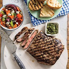 London Broil with Chimichurri | CookingLight.com #myplate #protein