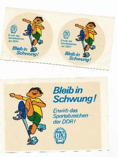 """DDR Museum - Museum: Objektdatenbank - Abziehbild """"Erwirb das Sportabzeichen der DDR!""""    Copyright: DDR Museum, Berlin. Eine kommerzielle Nutzung des Bildes ist nicht erlaubt, but feel free to repin it!"""