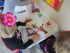 All four seasons at the sticky table by Teach Preschool