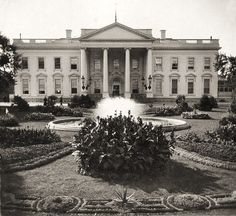 The is the official residence and workplace of the President of the United States. It is located at 1600 Pennsylvania Avenue NW in Washington, D. White House Usa, White House Tour, Presidential History, Vintage Landscape, Public Garden, White Paints, Vintage Photographs, Historical Photos, American History