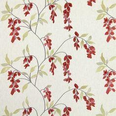Montague Cherry 60% polyester/ 21% cotton/ 19% linen 142cm 33cm Embroidery