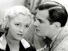 """The Finnish actors Ansa Ikonen and Tauno Palo, in """"Jumalan Tuomio"""" (1939)."""