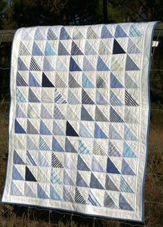 I love mens shirts in quilts . shirts baby quilt by Mrs. Quilts a Lot, via kid boy Baby kid Blue Quilts, Scrappy Quilts, Easy Quilts, Patchwork Quilting, Quilting Designs, Quilting Projects, Plaid Quilt, Half Square Triangle Quilts, Quilt Modernen
