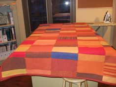 quilts made from sweaters | quilt made from felted wool sweaters pattern sizing queen sized quilt ...
