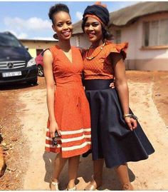 Newest Traditional Shweshwe Dresses 2019 - Box Fashions African Dresses For Women, African Attire, African Wear, African Style, African Traditional Dresses, Traditional Outfits, Turquoise Clothes, Shweshwe Dresses, African Models