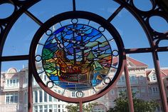 Disneyland Railroad stained glass