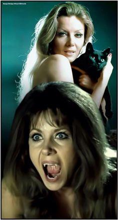 Camilla from 'The Vampire Lovers' played by Ingrid Pitt Hammer Horror Films, Hammer Films, Female Vampire, Vampire Girls, Scary Movies, Horror Movies, Dracula, Berliner Ensemble, Horror House