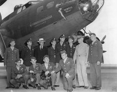 General Arnold Greets Crew of B-17 Memphis Belle BFD