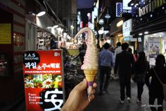 A late snack of ice cream in Seoul.