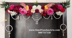 Diwali Decoration Items, Thali Decoration Ideas, Handmade Decorations, Wall Hanging Designs, Wall Hanging Crafts, Diwali Diy, Diwali Craft, Desi Wedding Decor, Home Wedding
