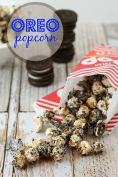 Oreo Popcorn - RachelCooks.com #recipe #snack @oreo