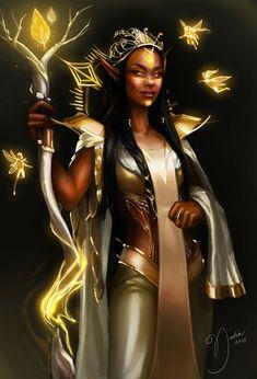 Full-Color Fantasy — marcel-franchell:   elf of the golden tree...