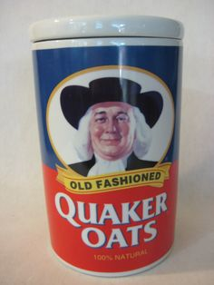 Old Fashioned Quaker Oats Cookie Jar 120th Anniversary 1997