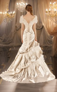 With separate textured shoulder wrap. Martina Liana gown style no. 403