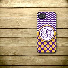 LSU - Personalized iPhone Case  iPhone 4 iPhone 4s iPhone by studio2812, $15.00