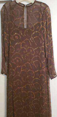 4a40ac03b68 (ebay link) VINTAGE 1960s Robert Courtney - Women's gown shift dress in  wine/