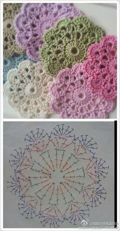 Solo esquemas y diseños de crochet: LINDOS MOTIVOS REDONDOS!