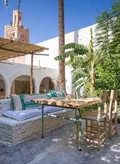 To eat: La famille, Marrakech Marrakech Travel, Morocco Travel, Marrakech Restaurant, Patio Interior, Interior Design, Destinations, Andalucia, Moorish, Travel Images