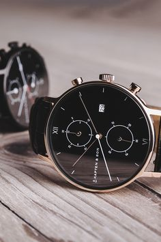 watch | affordable luxury | chronograph | Chrono All Black Croco by Kapten & Son