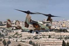 V22 Osprey | V22 Osprey en camouflage sable - terre - vert de l'armée israélienne ...