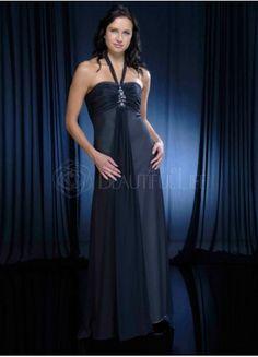 Gorgeous Empire Waist Bandeau Floor Length Chiffon Bridesmaid Dress