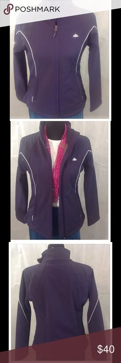 Purple Snozu Jacket This wonderful jacket is perfect for casual wear and is fully lined. White trim details. Zipper opening in front and on pockets. Worn once. Made of polyester and spandex. Machine wash cold. Snozu Jackets & Coats