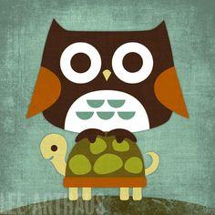 21 Owl on Turtle