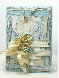 Shabby I like the distressed and inked edges Colour combo is gorgeous